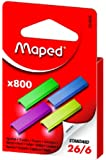 Maped 800 Coloured Staples 26/6 (Single Box) 324806