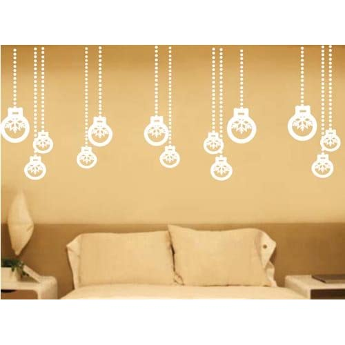 Best Quality Vinyl Wall Sticker Decals   Christmas tree balls ( Size 12in x 11in   Color lavender )   No 2163