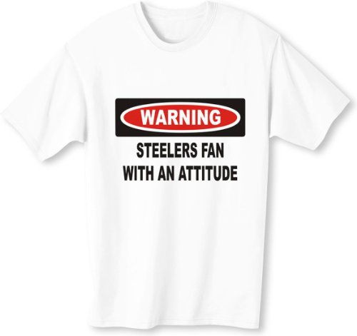 Warning: Steelers Fan with an attitude Youth T-Shirt (for Kids) in Various Colors