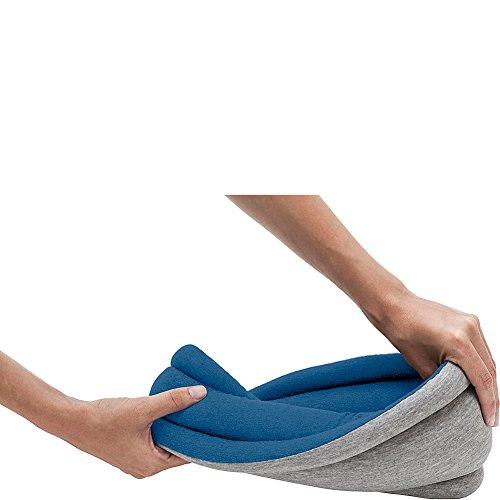 OSTRICH PILLOW LIGHT - Reversible - Fascia per coprirsi gli occhi e riposare di giorno, utilizzabile anche come sciarpa (SLEEPY BLUE)