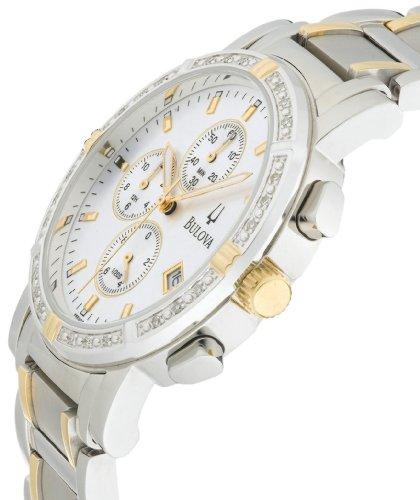 Bulova Men's 98E00 Diamond Accented Stainless Steel Chronograph Watch