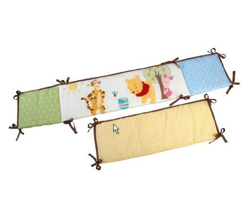 Disney Pooh Sunny Day Secure-Me Crib Bumper - 1