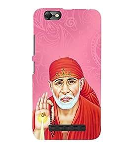 OM Shri Sai Kaalaya 3D Hard Polycarbonate Designer Back Case Cover for Lenovo Vibe C