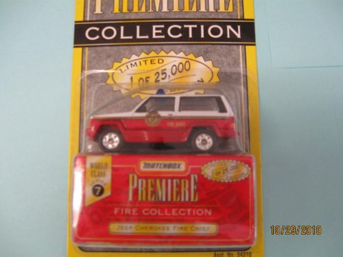 Matchbox Premiere Jeep Cherokee Fire Chief Series 7 #34310