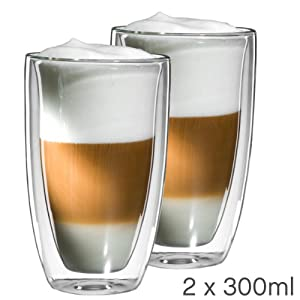 mohnblume 2er set latte macchiato glas 300ml. Black Bedroom Furniture Sets. Home Design Ideas