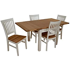 Dijon Extending Oak Dining Table 90 X 90 4 Linden Chairs Painted Amazon