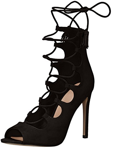 Aldo Women's Sergioa Dress Sandal, Black, 7 B US