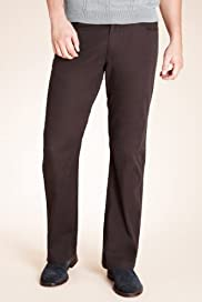 Autograph Pure Cotton Stay Dark Straight Leg Trousers [T17-2086A-S]