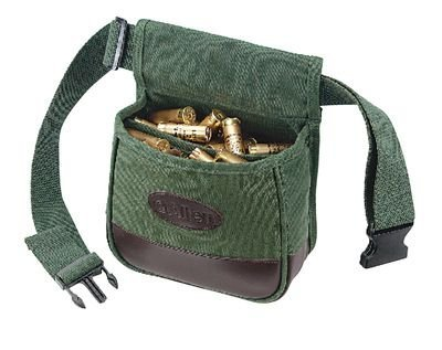 Allen Company Double Heavy Canvas Compartment Shooters Bag with Belt
