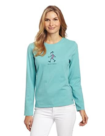 Life is Good Women's Crusher Long Sleeve Tee, Wander Woman, Teal, X-Small