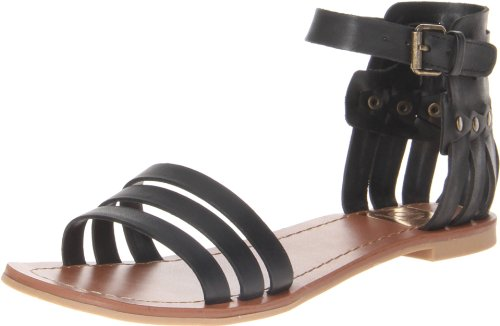 Dv By Dolce Vita Women'S Daffodil Gladiator Sandal,Black Leather,8.5 M Us