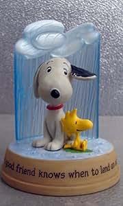 PAJ4505 Hallmark Peanuts Gallery Lend An Ear Snoopy and Woodstock Figurine
