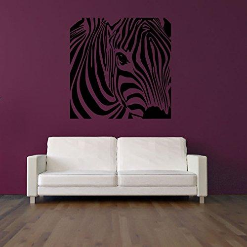 zebra-perfil-square-etiqueta-de-la-pared-animal-tatuajes-de-pared-arte-disponible-en-5-tamanos-y-25-