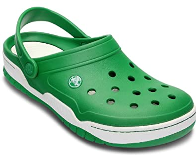 Crocs Front Court Clog,Kelly Green/White,US 11 M
