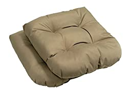 High Quality - Outdoor - Solid Seat Cushions - Set of 2-Beige - Exclusively by Blowout Bedding