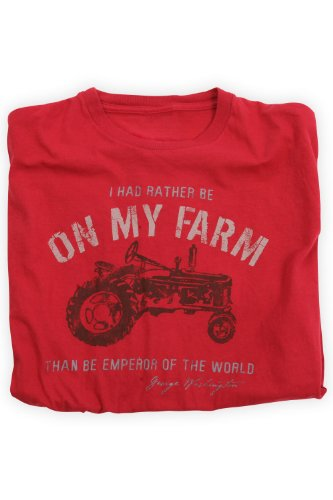 Green 3 Apparel On My Farm Organic Usa-Made Tee (L, Red) front-346101