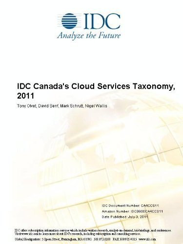 IDC Canada's Cloud Services Taxonomy, 2011