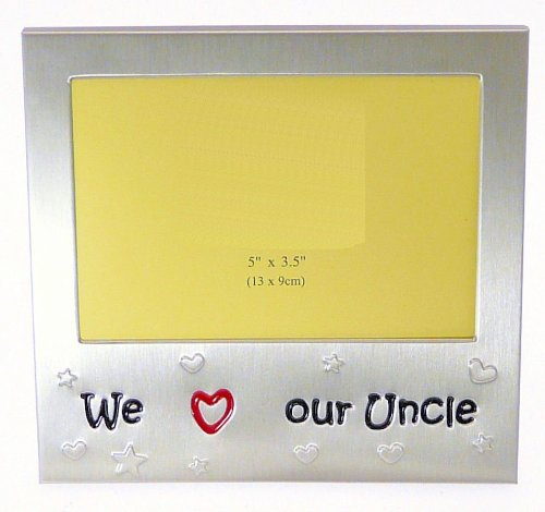 We Love Our Uncle - Expressions Photo Picture Frame Gift - 5 x 3.5
