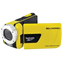 Bell+Howell Splash WV30HD-Y 1080p Full HD Digital Waterproof  Video Camera with 1x Optical Zoom with 3.0-Inch LCD Screen (Yellow)