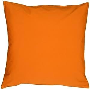Pillow Decor - Caravan Cotton Orange 20x20 Throw Pillow
