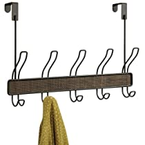 InterDesign Twillo Over-The-Door Rack 5 Bronze