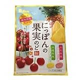 ライオン菓子 にっぽんの果実のど飴 さくらんぼとパイナップル 72g 18コ入り