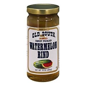 Old South Sweet Pickled Watermelon Rind 10 Oz Jar (3 Pack)