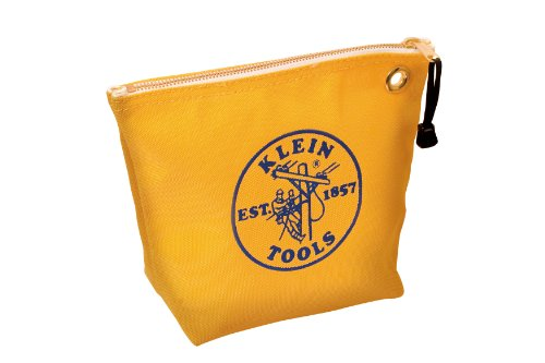 Klein Tools 5539YEL Canvas Zipper Bag for Consumables, Yellow (Carpentry Tool Bags compare prices)