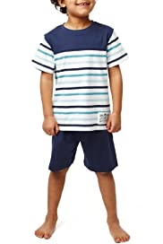 Autograph Pure Cotton Striped Pyjama Shorts [T86-3101A-S]