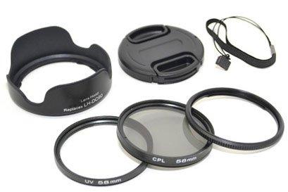 Zubehörset, Starterset, Einstiegsset, Zubehörkit, Starterkit für Canon PowerShot SX50 HS (58mm Adapter, Filter, Gegenlichtblende, Objektivdeckel)