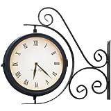 Horloge de Gare Extérieur pivotante avec Thermomètre - 31.5cm