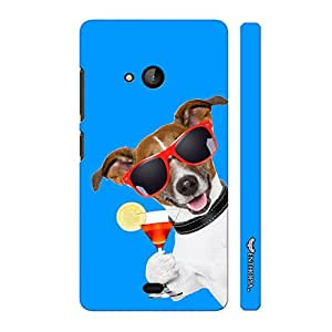 Nokia Lumia 540 DOG SAYS CHEERS designer mobile hard shell case by Enthopia