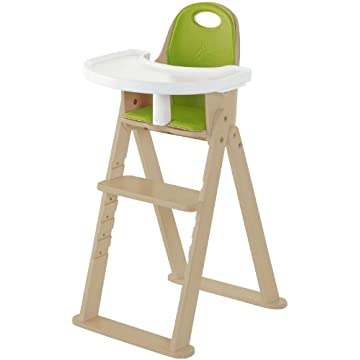 Svan Baby To Booster Bentwood High Chair - Natural/Lime Cushion