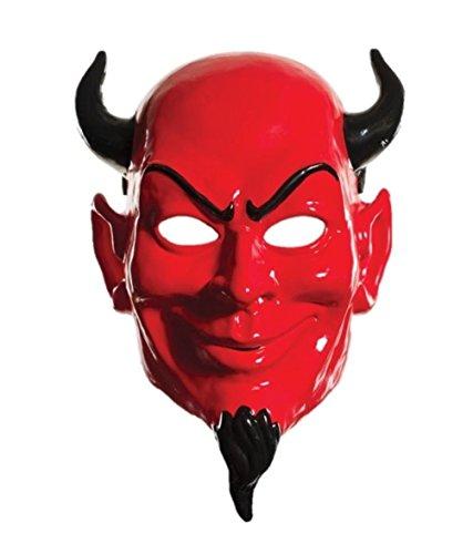 [Mememall Scream Queens Red Devil Half Mask PVC Plastic Costume Adult Demon] (Red Devil Scream Queens Costume)