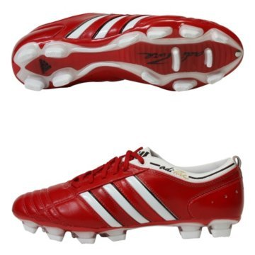 the latest 25e34 c3be0 adidas adiPURE II TRX FG Champions League Soccer Shoes (Red Running  White Black) Reviews