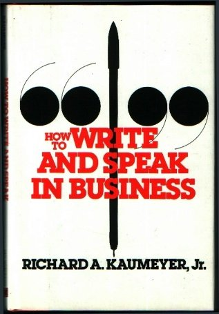 Image for How to Write and Speak in Business
