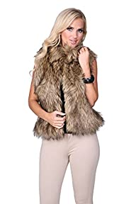 Ci Sono Juniors/Womens Faux Fur Vest