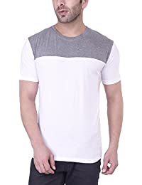 Upbeat Men's Short Sleeve Crew Neck Slim Fit Cotton T-Shirt For Men