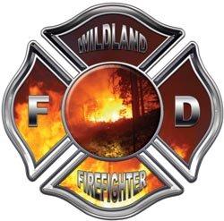 Wildland Firefighter Maltese Cross Decal - 2