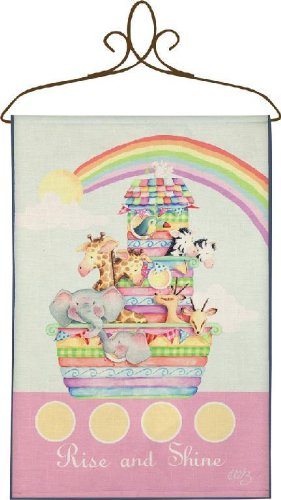 Izzy Rise and Shine Noah's Ark Nursery Blanket - 1