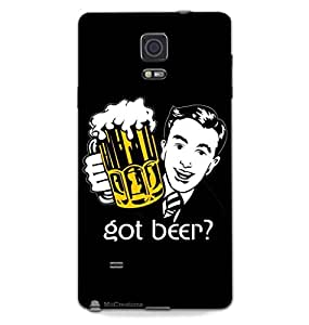 MiiCreations Printed Back Cover for Samsung Galaxy Note 4,Got Beer