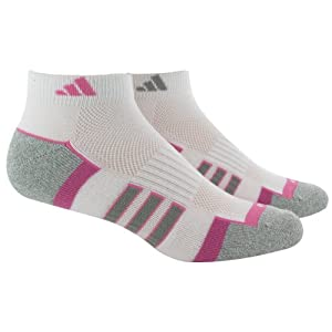 adidas Women's Climalite II Low Cut Sock (2-Pair), White/Mono Pink/Aluminum 2/Aluminum 2 Marl, Size 5-10