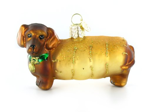 Christmas Wiener Dog Ornament