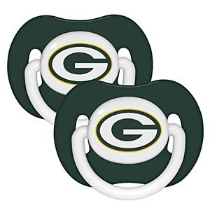 Nfl Green Bay Packers 2 Pack Pacifier front-1002105