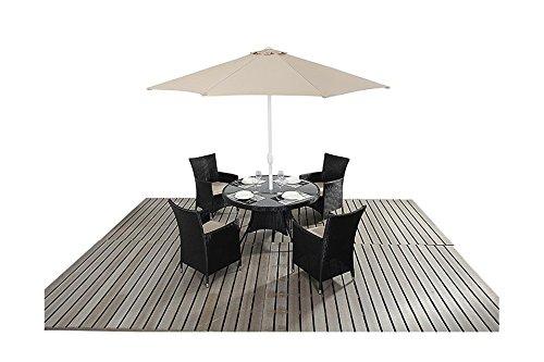 Sydney Urban Gartenmöbel, für 4 Personen, runder Tisch, Stühle Esstisch