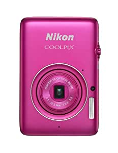Nikon COOLPIX S02 13.2 MP Digital Camera with 3x Zoom NIKKOR Glass Lens and Full 1080p HD Video (Pink) (Discontinued by Manufacturer)
