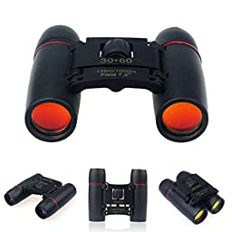 Gotd 30x60 Folding Bionocular Telescope with Night Vision for outdoor birding, travelling, sightseeing, hunting, etc