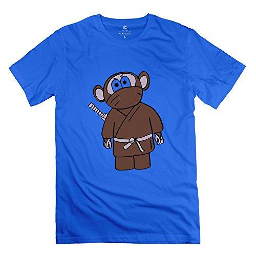 Tgrj Men'S T Shirt - Fashion Ninja Monkey T Shirt Royalblue Size M
