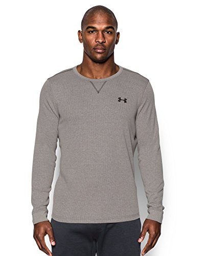 Under Armour Men's Waffle Crew, Carbon Heather (090), X-Large