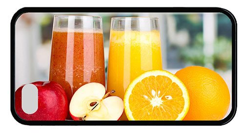 Cool Iphone 4 Case Good Covers Nutritious Juice Apples Oranges Tpu Black For Iphone 4/4S front-1072881